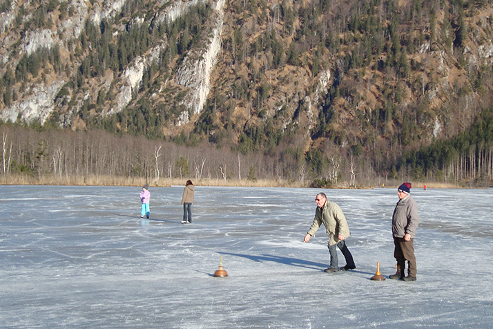 Ice skating, curling